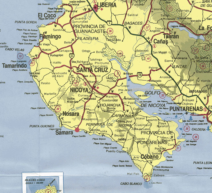 Click Here For A Large Map MapPoint Costa Rica