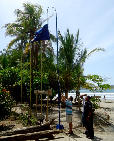 Blu Flag in Samara Beach