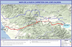 Map of San Jose Caldera highway